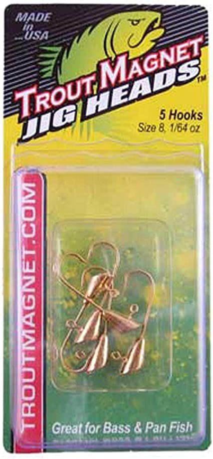 WHITE 1//64oz 7 Tails Details about  /Leland/'s Lures TROUT MAGNET Fishing JIGS 2 Jig Heads