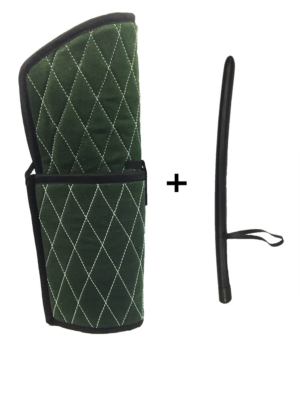 Dog Training Tools Set Including Arm Protection Bite Sleeve and Agitation Controlling Stick Whip