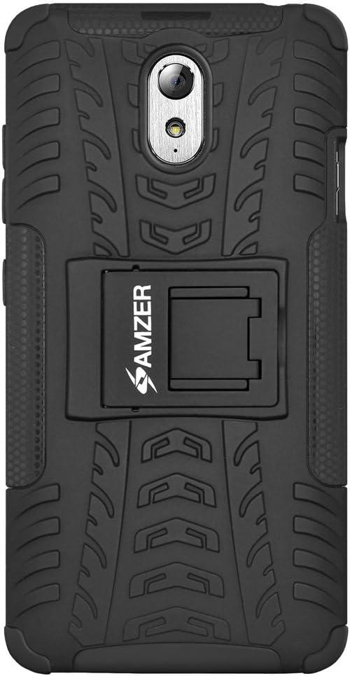 AMZER Impact Resistant Case for Lenovo Vibe P1m - Retail Packaging - Black