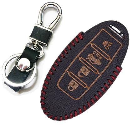 Black FancyAuto Car Keychain Keyring Leather Key Fob Auto Key Chain Ring Decoration For BMW