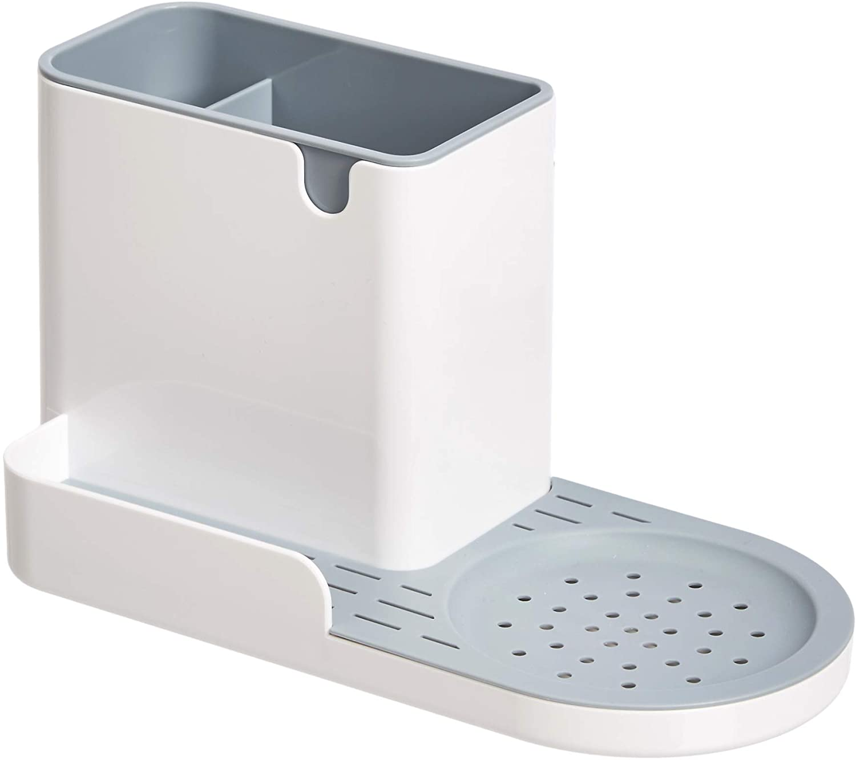 AmazonBasics Kitchen Sink Organizer/Sponge Holder, Large