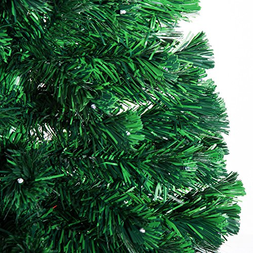 7' Artificial Holiday Fiber Optic / LED Light Up Christmas Tree w/ 8 Light Settings and Stand by HOMCOM (Image #6)