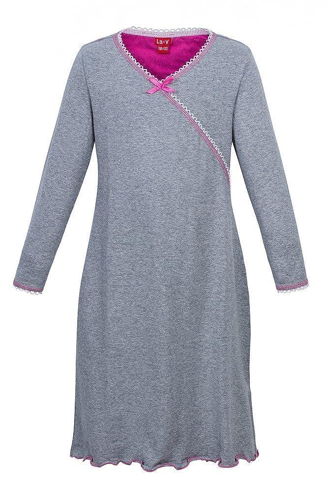 La-V Girls Nightgown Grey//Size 140-146