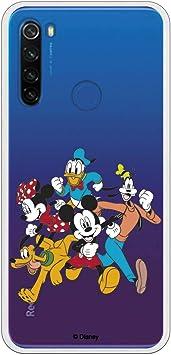 Funda para Xiaomi Redmi Note 8T Oficial de Clásicos Disney Mickey Friends Siluetas para Proteger tu móvil. Carcasa para Xiaomi de Silicona Flexible con Licencia Oficial de Disney.: Amazon.es: Electrónica