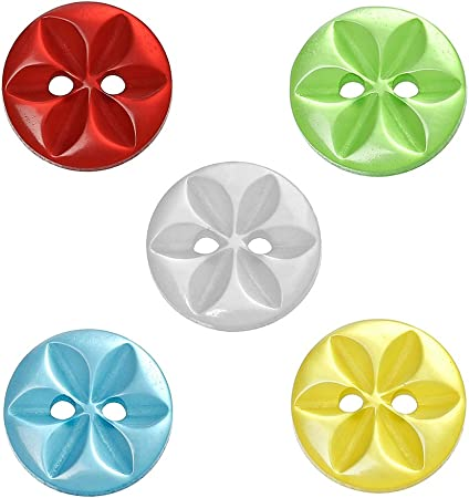 Free Multicolor 2-Holes Resin Button Fit Sewing Scrapbook Decorative craft 14mm