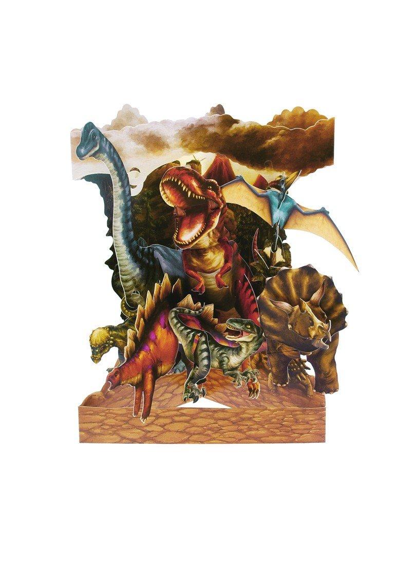 Santoro 3D Swing Greeting Card Dinosaurs