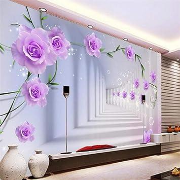 ZHENSI Fonds Du0027Écran 3D Fond Du0027Écran 3D Rose Violet 3D Stéréo Espace