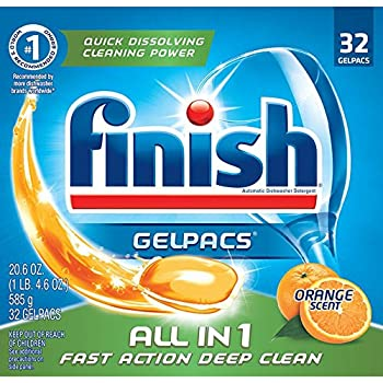 Amazon.com: Finish All in 1 Gelpacs Orange, 84ct