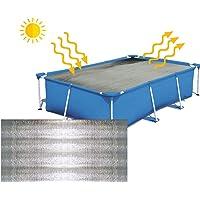 JLXJ Cobertor Solar Piscinas Cubierta de Piscina, Aislamiento Térmico Resistente a Los Rayos UV Impermeable Rectángulo…