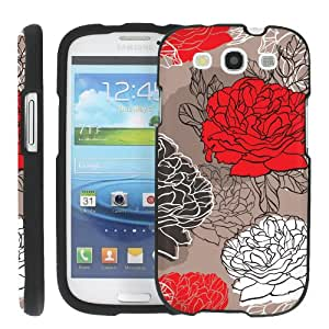 (Deep Rose) Design Shell Cover Case for Samsung Galaxy S3 S 3 III by ManiaGear