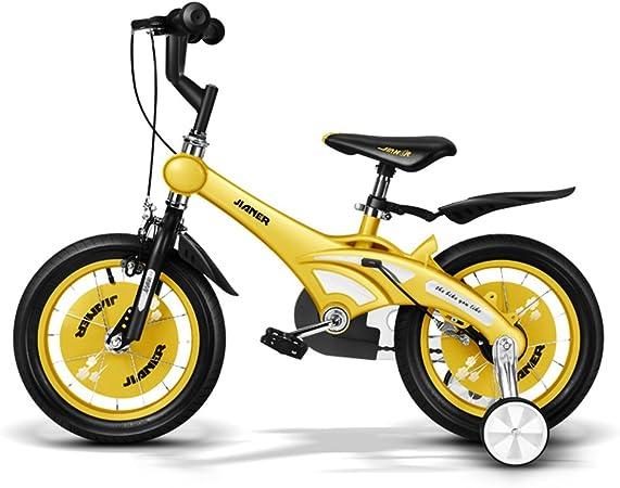 XQ- TR-437 Rosado Bicicleta Para Niños Bicicleta Para Niños 3-8 Años De Edad Niña Equitación La Seguridad Estable 14 Pulgada, 84 * 18 * 50 Cm (Color : Amarillo) : Amazon.es: Hogar