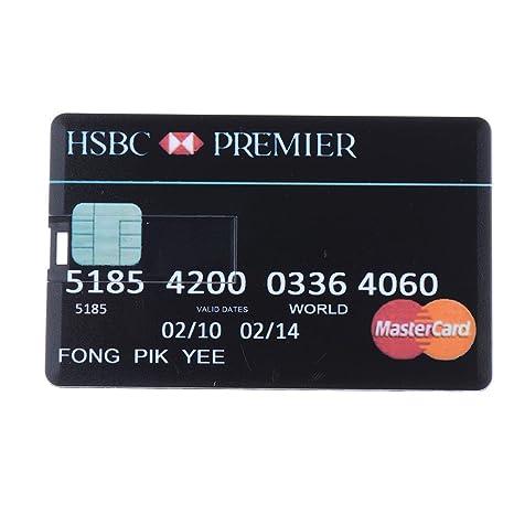 Seguryy Memoria USB 2,0, 8 GB, diseño de tarjeta de crédito, color rojo