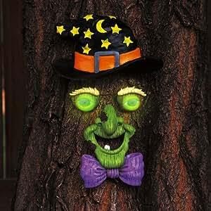 Scream Witch Face Tree Decor