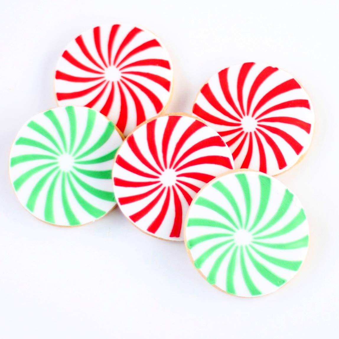 Amazon Com Dz Peppermint Swirl Cookies Twisted But Sweet