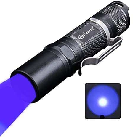 Amazon.com: Linterna UV LIGHTFE morada de identificación de ...