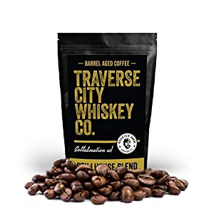Barrel Aged Coffee - Stillhouse Blend 12oz - Medium Roasted Beans for a Bold and Smooth Taste by Traverse City Whiskey Co.