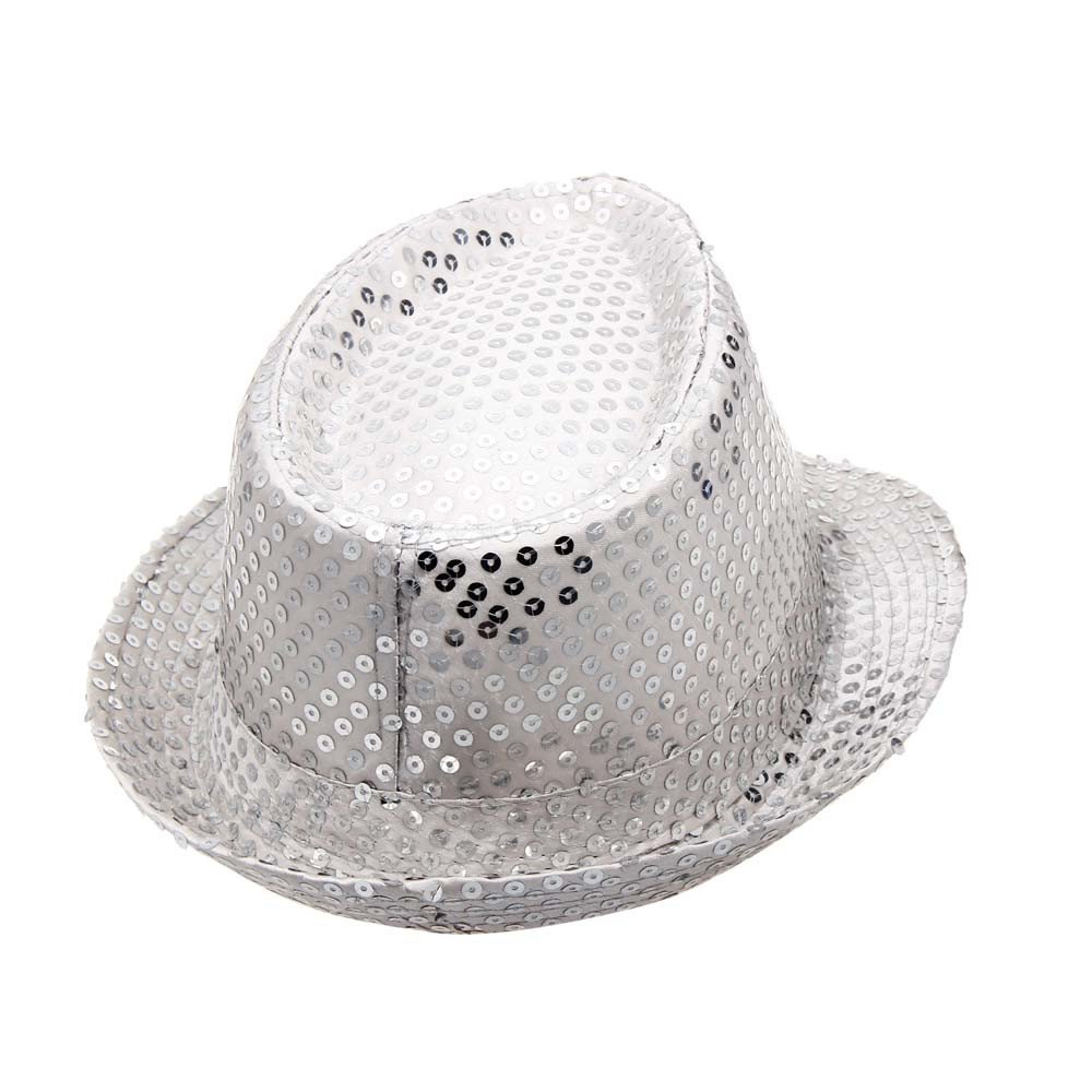 2019 DORIC Sequined Hat Hat Hat Dance Stage Show Performances Solid Color Relaxed Adjustable by DORIC (Image #2)
