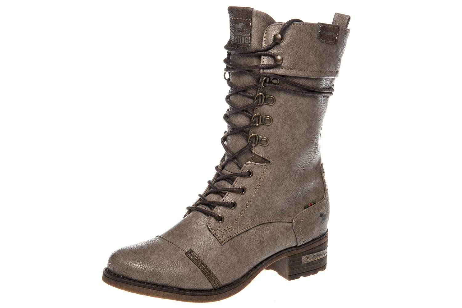 Mustang Botines Schnür-Stiefelette, Botines Femme 19983 B078SX2SHY Taupe 4ecfd5d - reprogrammed.space