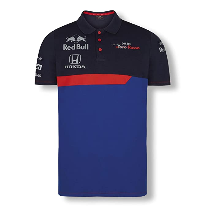 Red Bull Toro Rosso Official Teamline Camisa Polo, Azul Hombre X ...