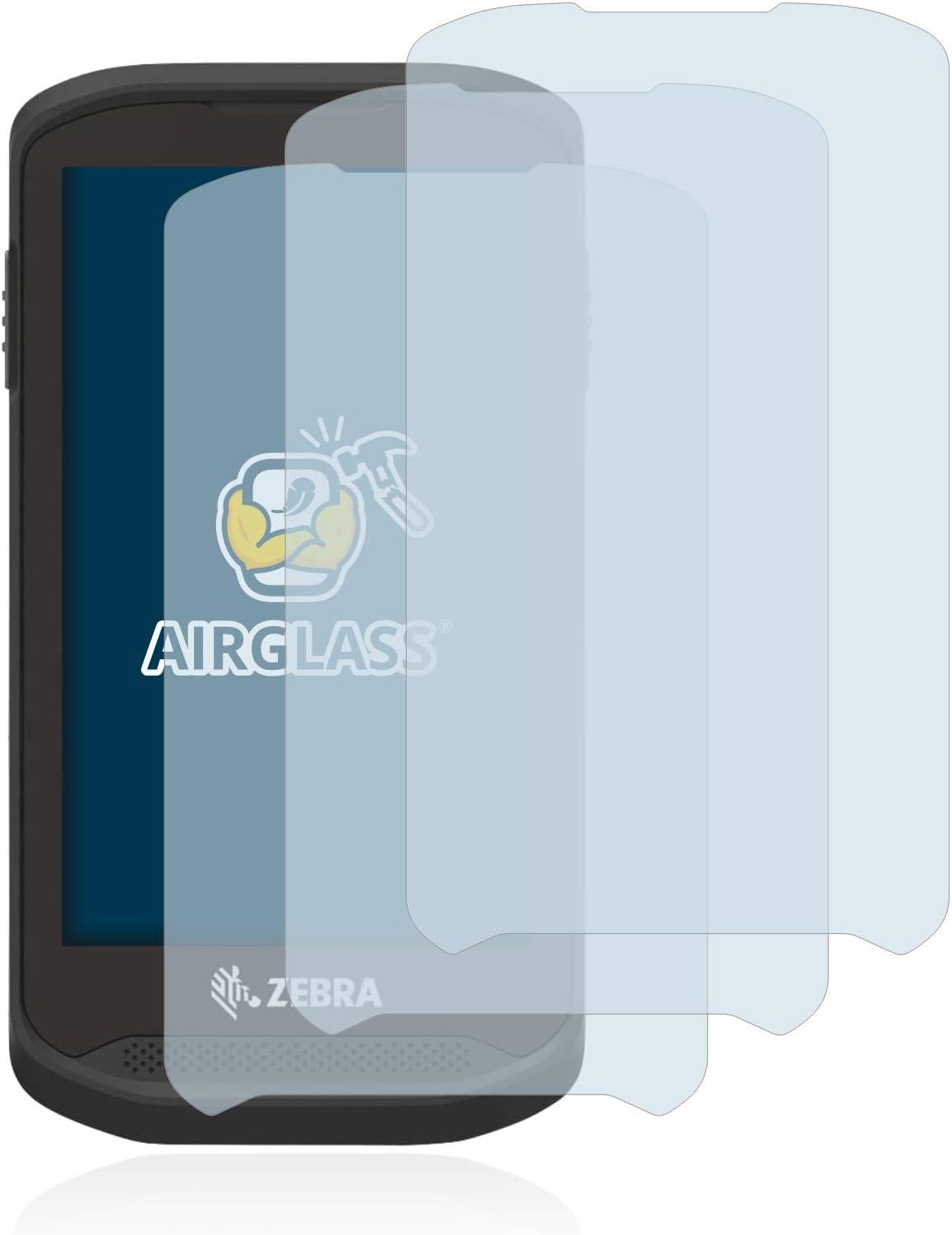 - AirGlass 3 St/ück Anti-Fingerprint extrem Kratzfest BROTECT Panzerglas Schutzfolie kompatibel mit Zebra TC77 Ultra-transparent