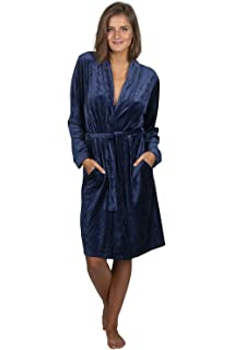 7f8c9cdcbe Beyond A Moon Luxury Cotton Bamboo Bathrobe – Light Soft Ladies Dressing  Gown with Pockets and Waist Tie - Scandinavian…