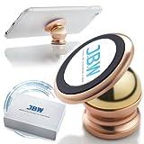 Car Mount, J.B.W. Premium Magnetic Cell Phone Holder Cell Phone Car Mount Smartphone Holder 360 Degree Rotatable Cradle Mount Kit - Rose Gold