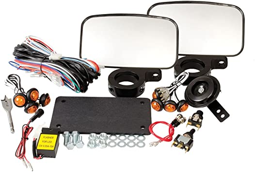 For use with ATVs With Existing Brake Lights. Tusk Universal ATV Street Legal Kit With Recessed Signals