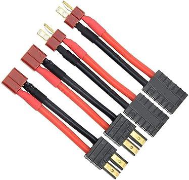FLY RC 4 pcs RC Lipo cargador de batería Cable adaptador de conversión Cable TRX a Deans T Plug Conector para TRAXXAS SE Slash Universal