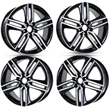 "NEW 19"" HONDA ACCORD SPORT STYLE FITS EX LX LX-S V6 WHEELS RIMS BLACK SET OF 4"