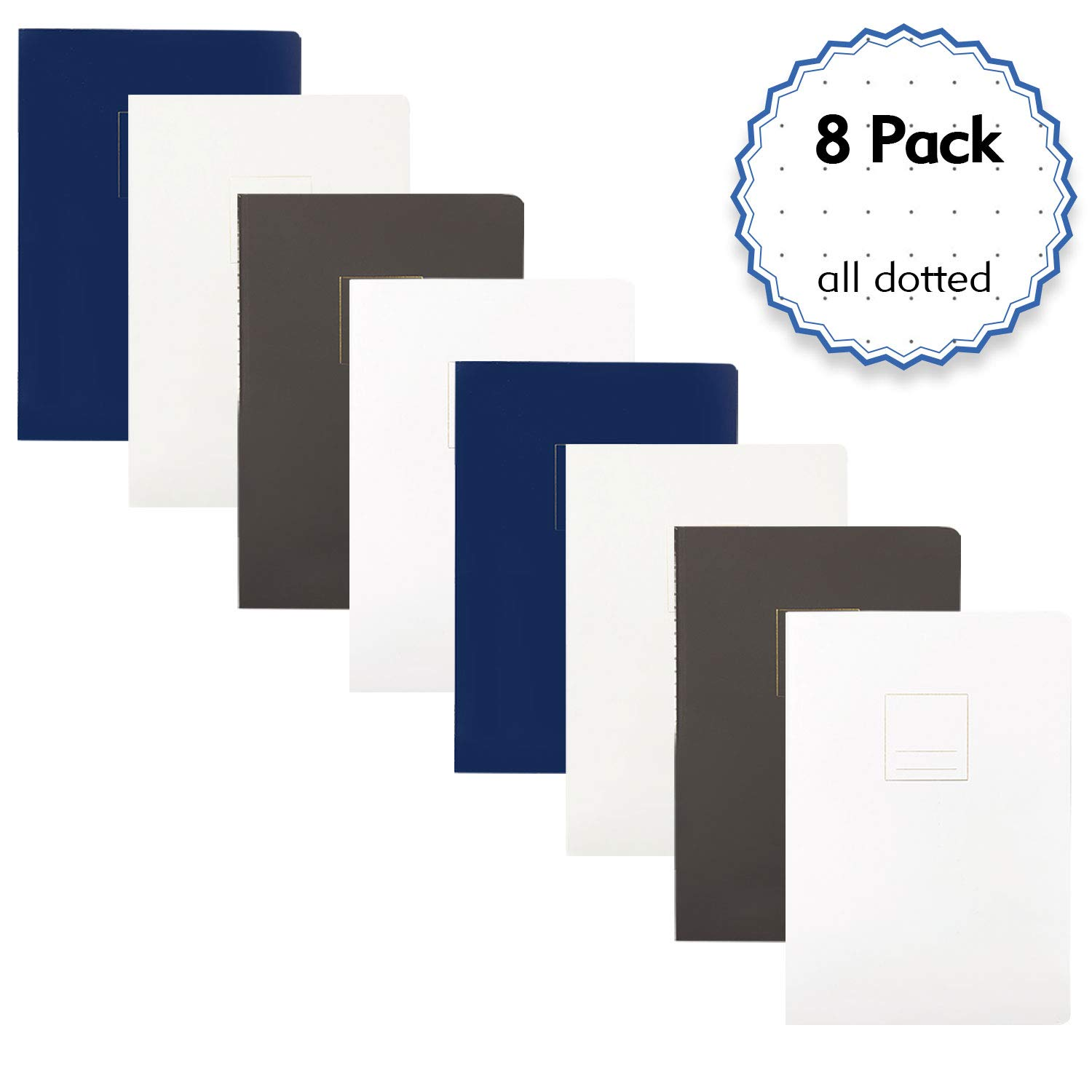 Composition books Dotted – Hardcover Book with Bullet and Drawing Features,  A5 Size 8 2 x 5 8 inch,100gsm Paper,320 Sheets/640Pages (All Dotted, 8