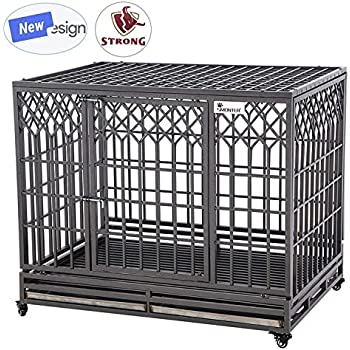 Amazon Smonter Heavy Duty Dog Crate Strong Metal Pet Kennel Playpen Two Prevent