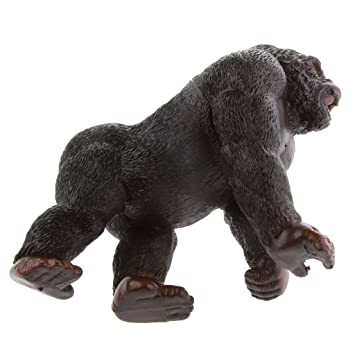 Mini Animal Silverback Gorilla Model Statue Kid Toy Learning Collectable #11