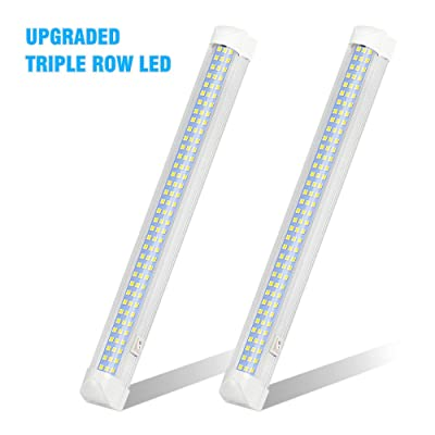 UPGRADED LED Interior Light Bar, MIHAZ 108LED 12V Universal Light Strip with ON/OFF Switch for RV Van Truck Lorry Camper Boat Caravan Motorhome (2 Pcs): Automotive