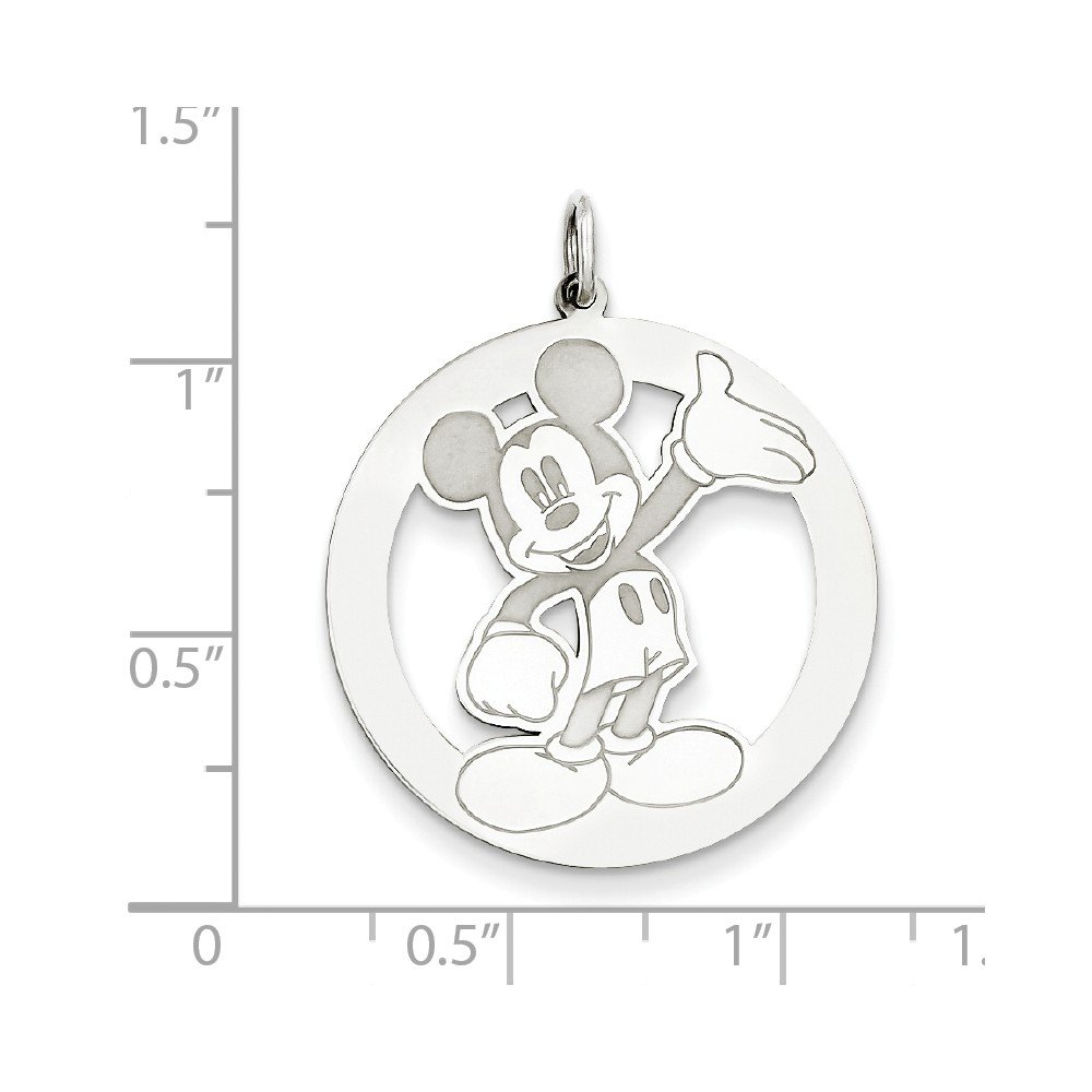 Silver Yellow Plated Mouse Charm 31mm