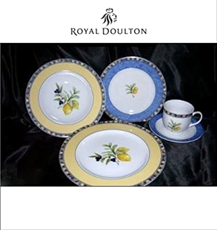 Royal Doulton Carmina Cucina Fine Porcelain 5 Piece Place Setting  sc 1 st  Amazon.com & Amazon.com | Royal Doulton Carmina Cucina Fine Porcelain 5 Piece ...