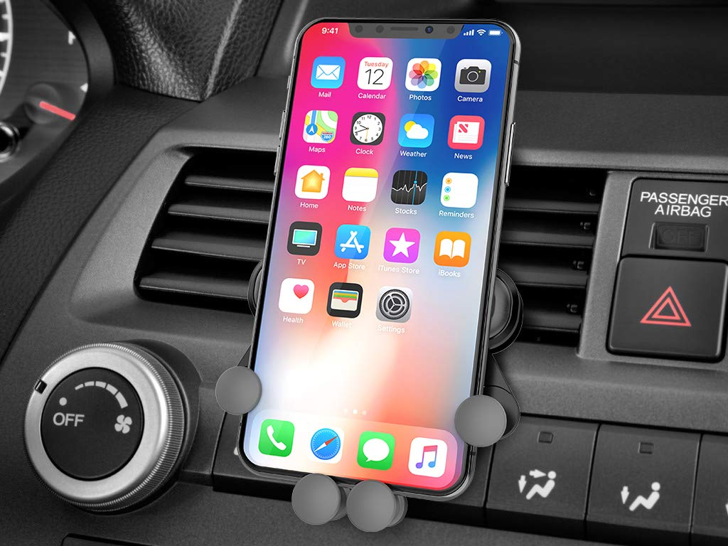 Car Phone Mount Air Vent Car Phone Holder Automatic Locking for Car Dashboard//Windshield//Air Vent Universal Phone Car Mount Compatible with iPhone x//8//7//7p//6s//6p//5s Galaxy s5//s6//s7//s8//s9 Smart Phone