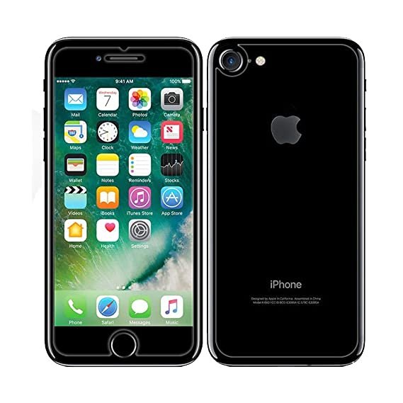 competitive price e079b 8431d iPhone 7/ iPhone 8 Front and Back Screen Protector, iKNOWTECH Front + Back  Rear [9H Hardness 0.26 mm 2.5D] Premium Ultra-Clear Anti Scratch/Bubble ...