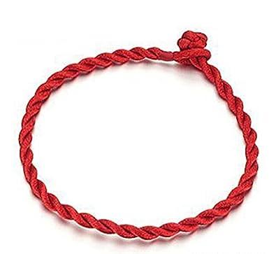 Opk Jewellery Bracelet de corde rouge tiss eacute e pour fille femme - bracelet  porte 6b6afb7156c4