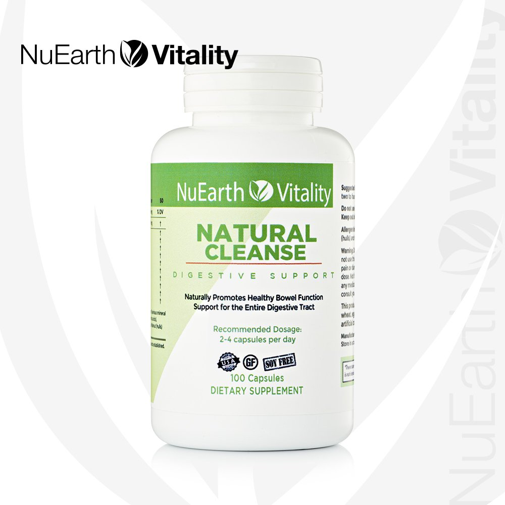 All Natural Herbal Colon Detox Supplement Capsules NuEarth Vitality Natural Cleanse Helps rid Your Body and Gut of toxins, Digestive and intestinal Repair Supports Healthy Weight Loss
