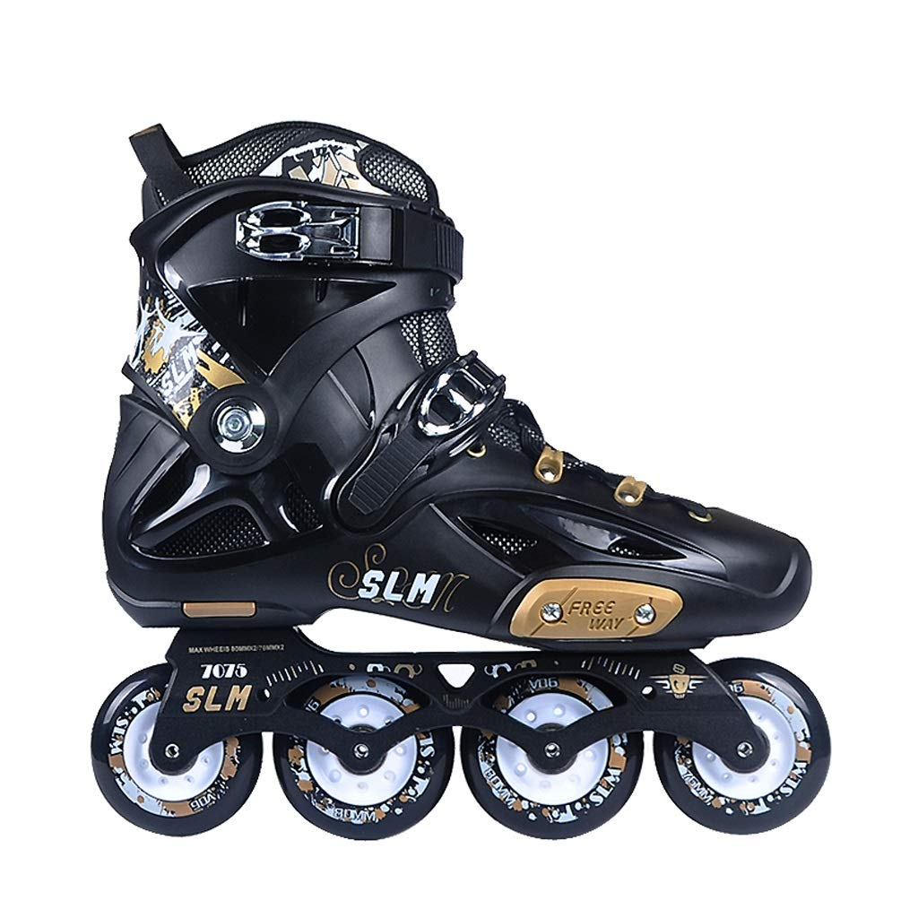 Male and Female Club Rollerblades Professional Fancy Skating Shoes Color : Black, Size : EU 36 CHEXIAOlbx Adult Inline Roller Skates White, Black