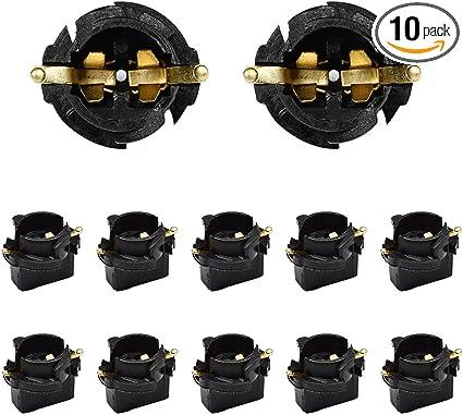 10x T10 Car Light Socket Twist Lock Wedge Instrument Panel Dash Light Bulb Base