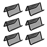 Miayon Pack of 6 Mesh Collection Business Card Holder (Black)