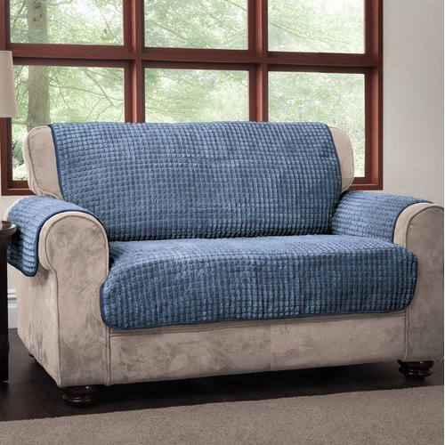 Winston Porter Box Cushion Loveseat Slipcover from Unknown