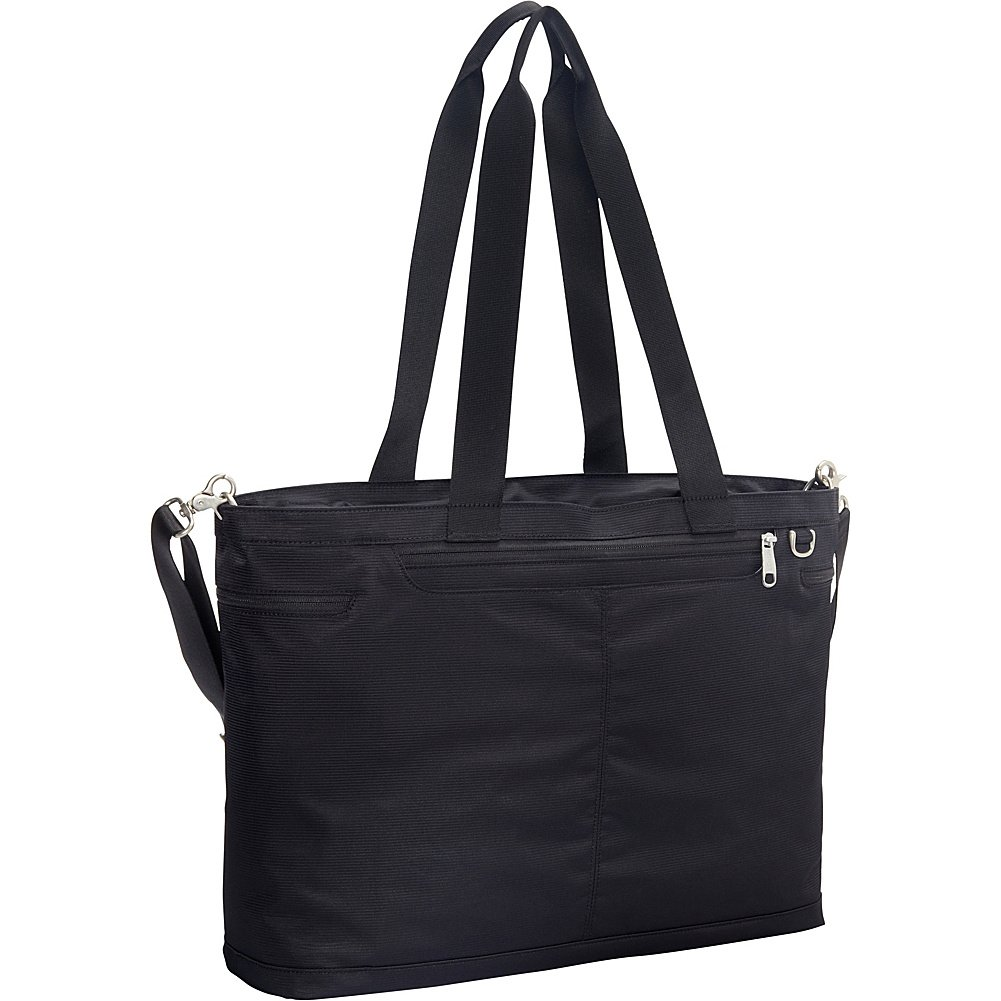 eBags Savvy Laptop Tote 2.0 with RFID Security (Black)