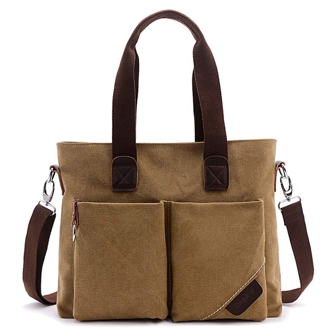 ToLFE Women Top Handle Satchel Handbags Tote Purse Shoulder Bag (Khaki-(Large)) by ToLFE (Image #3)