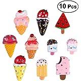 BESTOMZ Magneti calamite a forma di gelati da frigo per bambini 10PCS