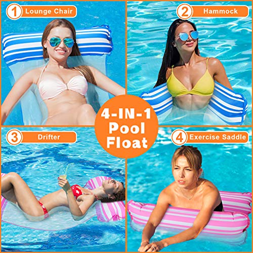 Summer Inflatable Floating Water Hammock Pool Lounge Bed Swimming Chair Fast shi