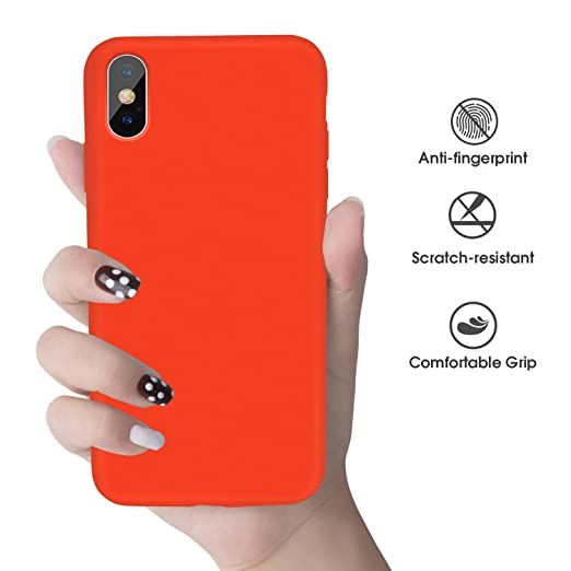 iPhone X Case, iPhone X Silicone Case, Xperg Slim Liquid Silicone Gel Rubber Shockproof Case Soft Microfiber Cloth Lining Cushion Compatible with ...