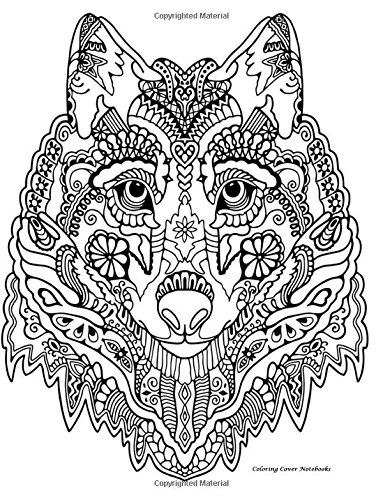 Download Coloring Cover Notebook (Wolf Tribal): Notebook for note taking, writing, research, and journaling with coloring design on cover for therapy, inner ... Notebooks, Sketchbooks, and Journals) pdf epub
