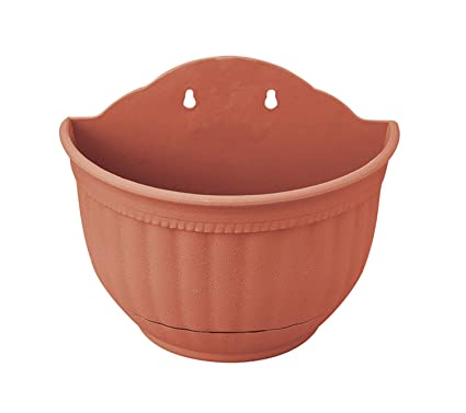 Wall Flowers Plant Planter Pot Hanging A Type Indoor Or Outdoor Container Gardening Brick Red